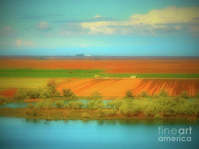 Photograph - Fields Water And Sky by Tara Turner
