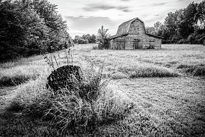 Photograph - Fields Where We Play - Black And White Barn Photography by Gregory Ballos