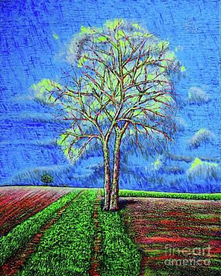 Painting - Field.tree by Viktor Lazarev