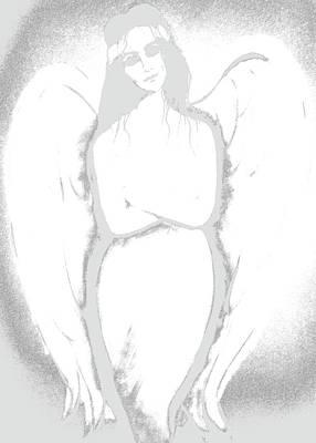 Wall Art - Painting - Fierce Angel by Jakki Moore