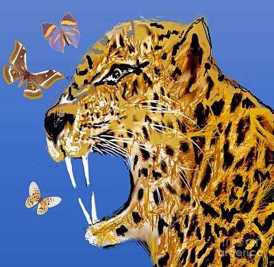 Painting - Fierce by Belinda Threeths