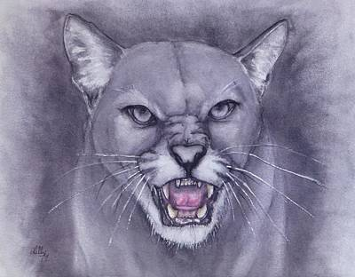 Painting - Fierce Cougar by Kelly Mills
