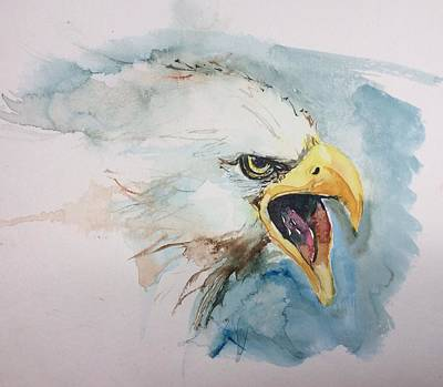 American Eagle Painting - Fierce by Diane Wallace