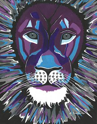 Painting - Fierce Lion by Kathleen Sartoris