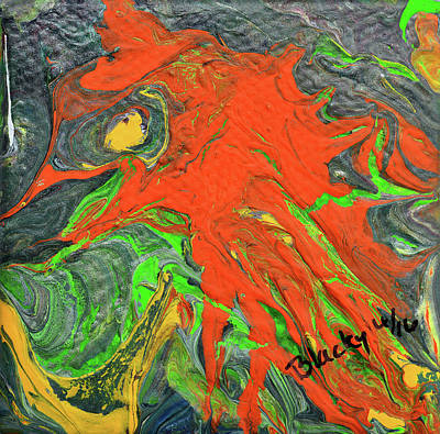 Painting - Fiery Beast by Donna Blackhall