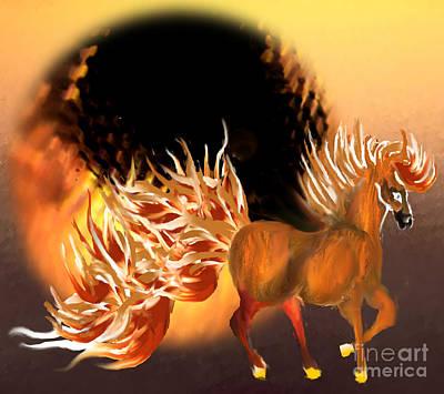 Painting - Fiery by Belinda Threeths