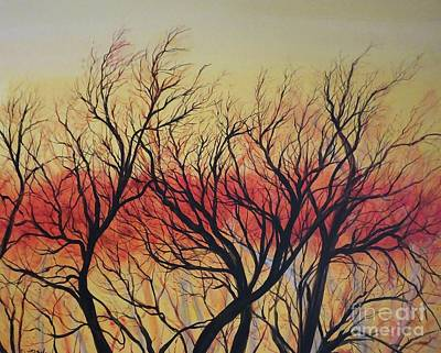 Painting - Fiery Chenier Sunset by Lizi Beard-Ward