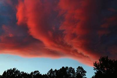Photograph - Fiery Clouds by Kathryn Meyer