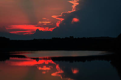 Photograph - Fiery Evening by James L Bartlett