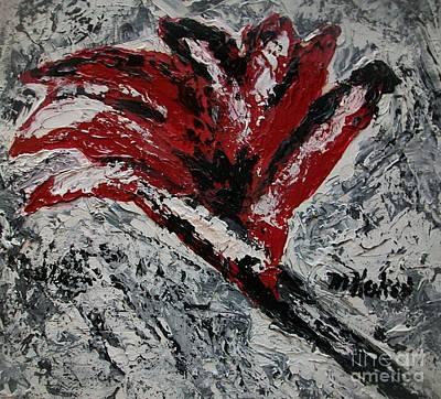 Fiery Flower Art Print by Marsha Heiken