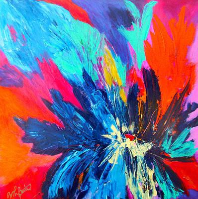 Fiery Flower Art Print by Mary-Lynn Bastian