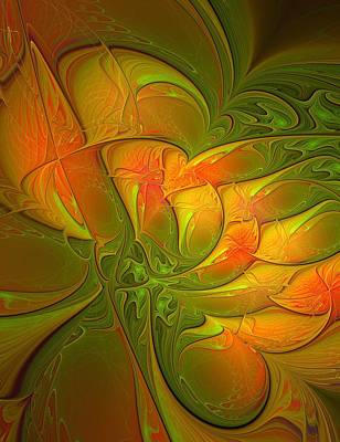 Apophysis Digital Art - Fiery Glow by Amanda Moore