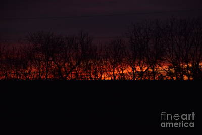 Photograph - Fiery Kansas Sky by Mark McReynolds