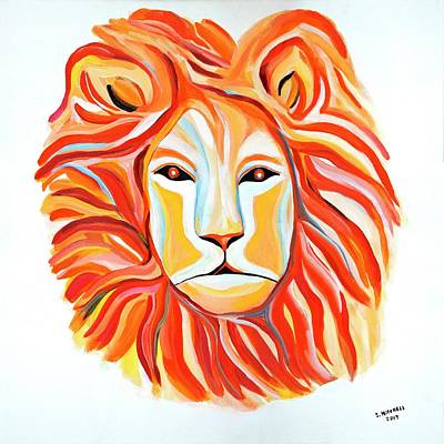 Painting - Fiery Lion by Ida Mitchell