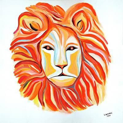 Painting - Fiery Lion by Ida Mitchell