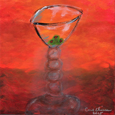 Martini Painting Royalty Free Images - Fiery Martini Royalty-Free Image by Carol  Eliassen