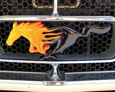 Fiery Mustang Art Print