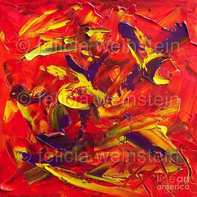 Painting - Fiery Nature by Felicia Weinstein