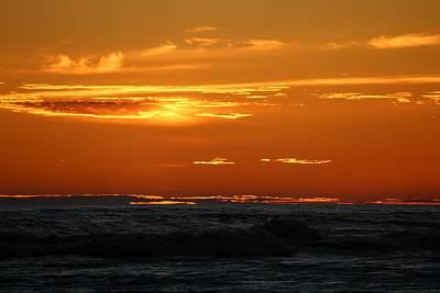 Photograph - Fiery Ocean Sunset - 4 by Christy Pooschke