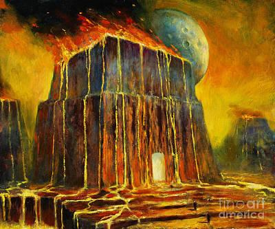 Matrix Painting - Fiery Realm by Michal Kwarciak