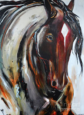 Painting - Fiery Red Head by Cher Devereaux
