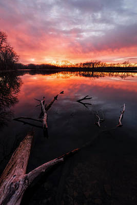 Photograph - Fiery Sky by Scott Bean