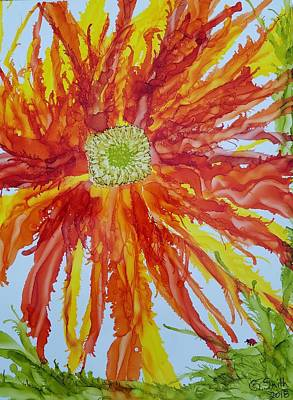 Painting - Fiery Spider Mum by Gerry Smith