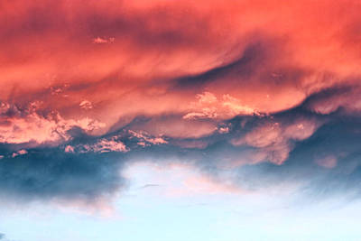 Fiery Storm Clouds Art Print by Tracie Kaska