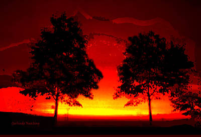 Fiery Sundown Art Print