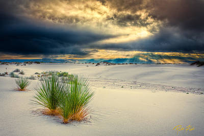 Photograph - Fiery Sunrise At White Sands by Rikk Flohr
