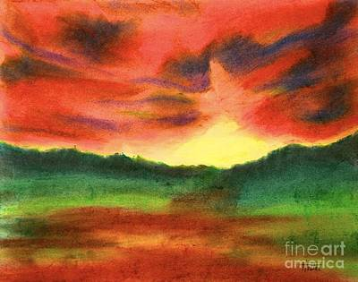 Pastel - Fiery Sunrise II by Terry  Hester
