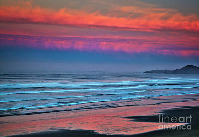 Photograph - Fiery Sunrise Over The Pacific by Bruce Block