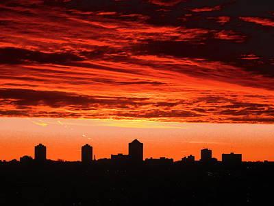 Photograph - Fiery Sunrise by Stephanie Moore