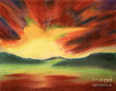 Pastel - Fiery Sunrise by Terry  Hester