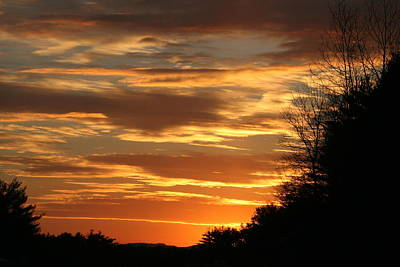 Photograph - Fiery Sunset by Aggy Duveen