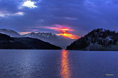 Photograph - Fiery Sunset At Summit Cove by Stephen Johnson