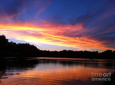 Photograph - Fiery Sunset by Jason Nicholas