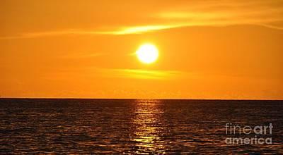 Photograph - Fiery Sunset by John Black
