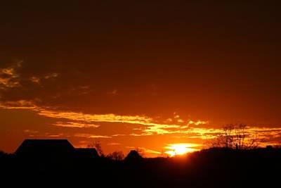 Photograph - Fiery Sunset by Kathryn Meyer