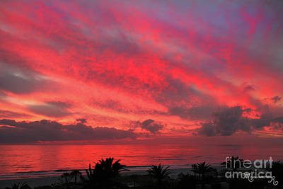 Photograph - Fiery Sunset by Mariarosa Rockefeller