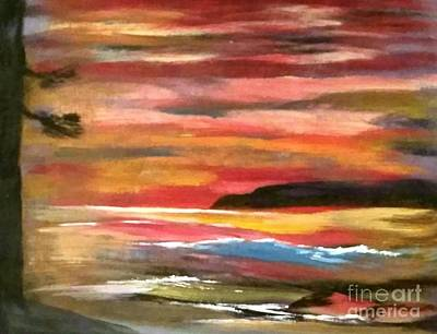 Painting - Fiery Sunset by Theodore A Gault