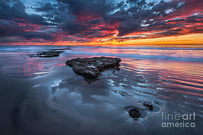Cardiff State Beach Photograph - Fiery Tabletop by Alexander Kunz