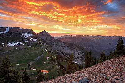 Photograph - Fiery Timpanogos Sunset by Johnny Adolphson