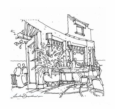 Drawing - Fiesta Bar by Andrew Drozdowicz