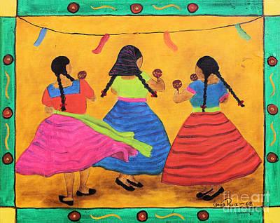 Painting - Fiesta En Mi Pueblo by Sonia Flores Ruiz
