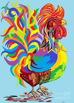 Fiesta Rooster Art Print