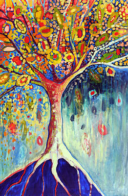 Mosaic Painting - Fiesta Tree by Jennifer Lommers