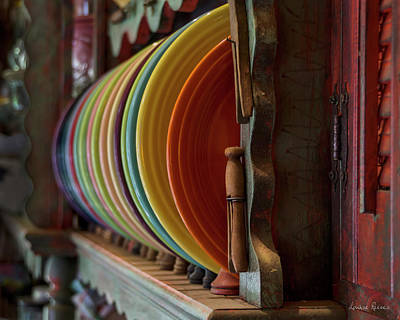 Fiestaware Photograph - Fiestaware by Louise Reeves