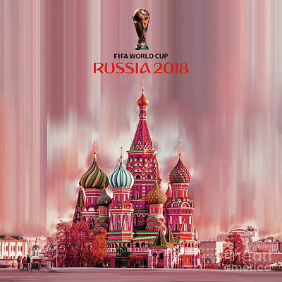 Painting - Fifa World Cup 2018 Russia  by Gull G
