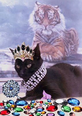 Fifi Diamonds Are A Kitten Best Friends Art Print by Silvia  Duran